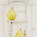 Two Pears And A Chair Still Life by Edward Fielding