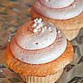 Two Pink Cupcakes Art Prints by Valerie Garner