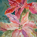 Two Poinsettias by Charme Curtin