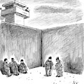 Two Prisoners Talk In The A Prison Yard by Frank Cotham