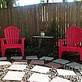 Two Red Chairs by Elinor Helen Rakowski