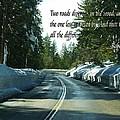 Two Roads by Anthony Walker Sr