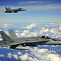Two Royal Australian Air Force Fa-18 by Stocktrek Images