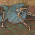 Two Seated Dancers by Edgar Degas