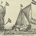 Two Ships A Statenjacht And An Interpreter by Anonymous And Reinier Nooms And Gerard Valck