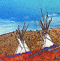 Two Teepees by Kae Cheatham