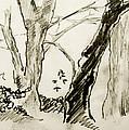 Two Tree Drawing by Alan  Hopwood