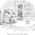 Two Viking Parents Address Their Child by Paul Noth
