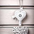 Two Vintage Hearts by Jane Rix