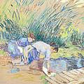 Two Washerwomen by Jean Baptiste Armand Guillaumin