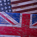Two Wooden Flags by Garry Gay