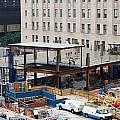 Two Wtc Under Construction by Steven Spak