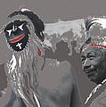 Two Yaqui Pascola Dancers Gallery In The Sun Tucson Arizona 1969-2013 by David Lee Guss