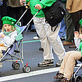Two Young Girls Marching In The 2009 New York St. Patrick Day Parade by James Connor