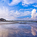 Tybee Island Pier On A Beautiful Afternoon by Mark E Tisdale