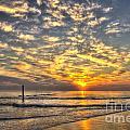 Calm Seas And A Tybee Island Sunrise by Reid Callaway