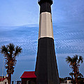 Tybee Light And Palms by Diana Powell