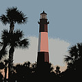 Tybee Light At Dusk by Rhodes Rumsey
