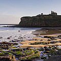 Tynemouth Priory And Castle Across King Edwards Bay by David Head