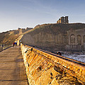 Tynemouth Priory And Castle From North Pier by David Head