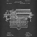 Type Writer 1885 Patent Art Black by Prior Art Design