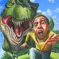 Tyrannosaurus Rex Jurassic Park Dinosaur - T Rex - Paleoart- Fantasy - Extinct Predator by Walt Curlee