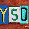 TYSON License Plate Name Sign Fun Kid Room Decor by Design Turnpike