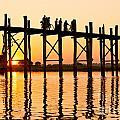 U Bein Bridge - Myanmar by Luciano Mortula