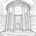 U N C Old Well by Calvin Durham