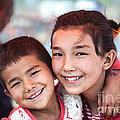 Uighur Children At Kashgar Market Xinjiang China by Matteo Colombo