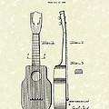Ukelele 1940 Patent Art by Prior Art Design