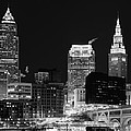 Ultra Rez Cleveland Black And White by Clint Buhler