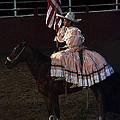 July 4th Rodeo Hispanic Female Rider Charreada Chandler Arizona 1999-2014 by David Lee Guss