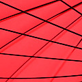 Red And Black Abstract by Tony Grider