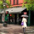 The Purple Bag - New York City In The Rain by Miriam Danar