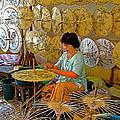 Umbrella Maker At Borsang Umbrella And Paper Factory In Chiang Mai-thailand by Ruth Hager