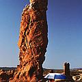 Umbrella Man In The Desert by Christopher McKenzie