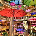 Umbrellas At Palazzo Shops by Amy Cicconi