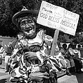 Uncle Harry Clown Drive Carefully  God Bless America Sign Tucson Arizona 1991 by David Lee Guss