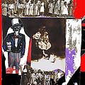 Uncle Sam Richard Nixon Mask Nuns Sitting Child Collage 2013 by David Lee Guss