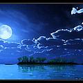 Under A Silvery Moon...artistic Effect by Tim Fillingim