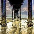 Under Scripps Pier by Robert  Aycock