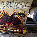 Under The Bridge In Sao Paulo by Julie Niemela