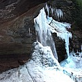 Under The Kaaterskill Falls In March 2009 by Terrance DePietro