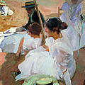 Under The Parasol by Joaquin Sorolla y Bastida