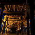 Under The Pier At Night by Richard Cheski