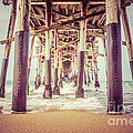 Under The Pier In Orange County California Picture by Paul Velgos