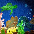 Under The Sea Mural 2 by Kathy Clark