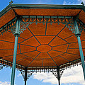 Underneath A French Gazebo by Dave Mills