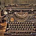 Underwood Typewriter Number 5 by Debra and Dave Vanderlaan